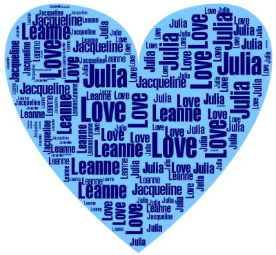 Word Hearts